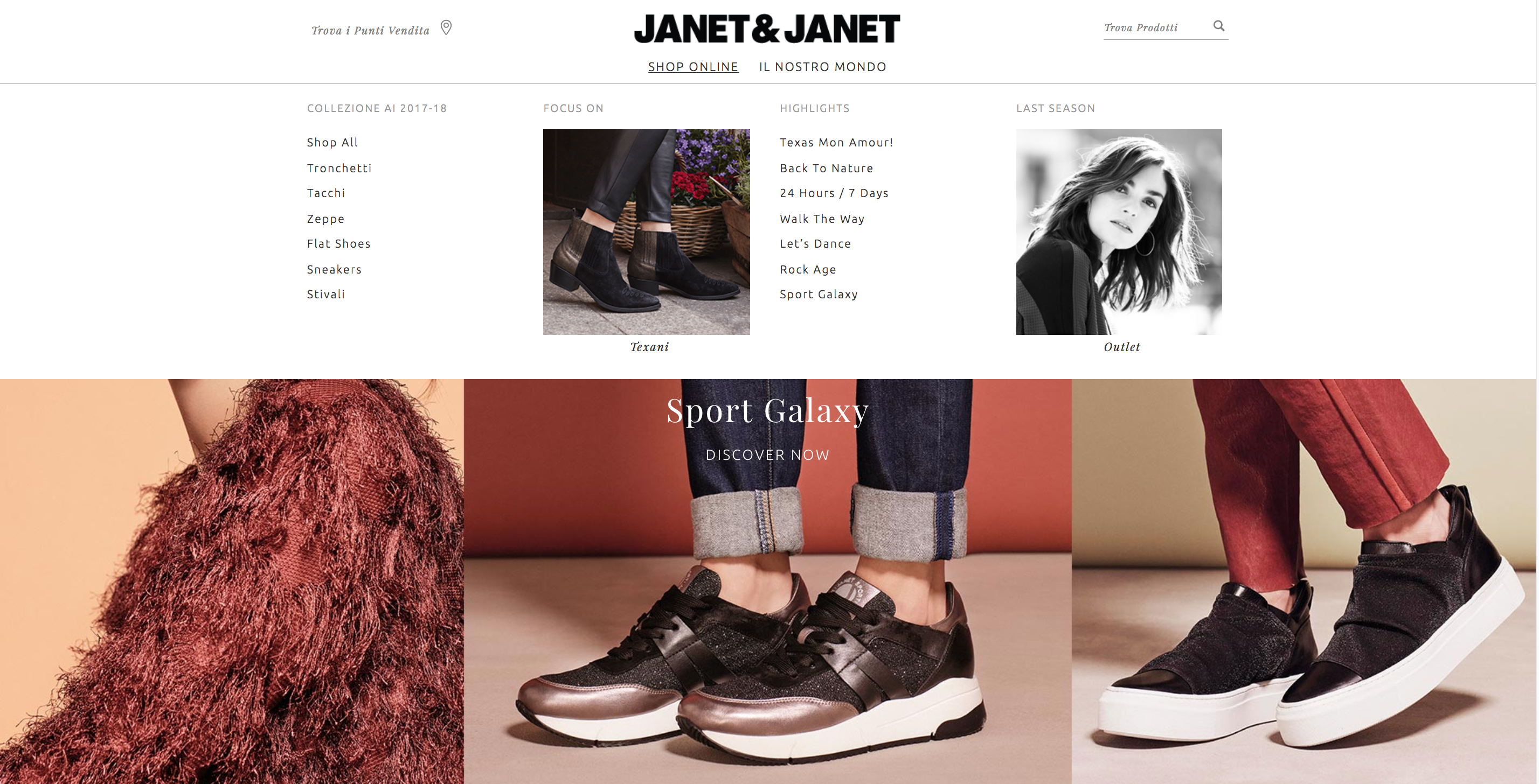 Janet & Janet menu
