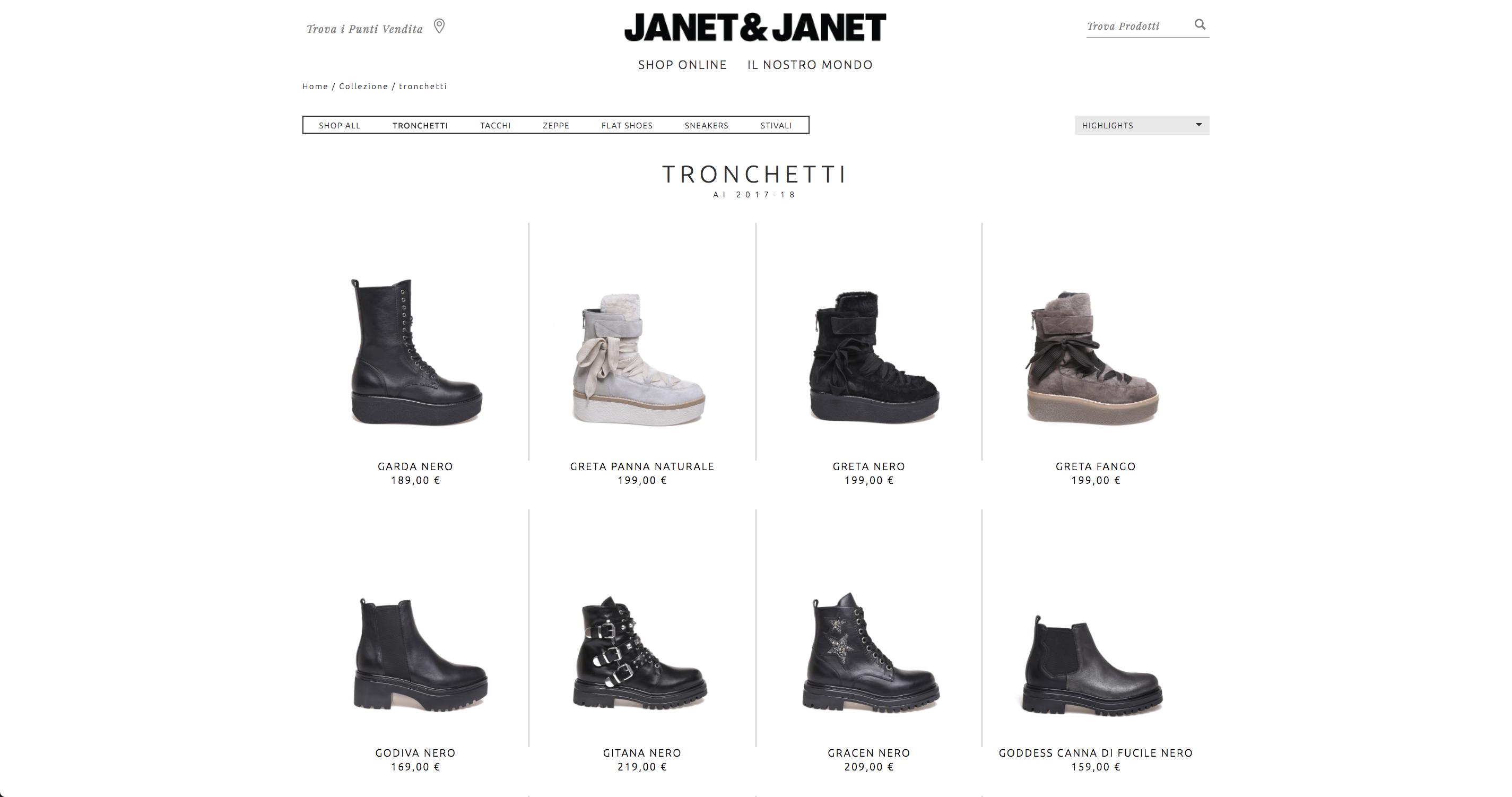 Janet & Janet shop online